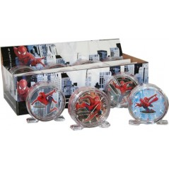 Spiderman alarm clock, diameter 8cm