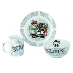 Monster High Breakfast Set 3 pezzi
