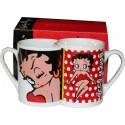 set of 2 nested mugs Betty boop