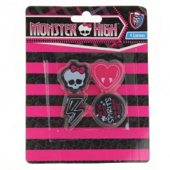 Monster High Set di 4 gomme da cancellare Monster High