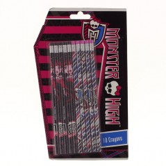 Set de 10 crayons à papier avec gomme Monster High