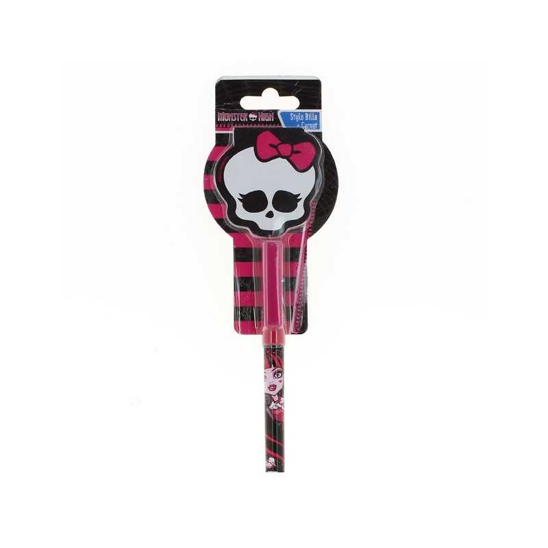 Bolígrafo Skull and Monster High de libreta