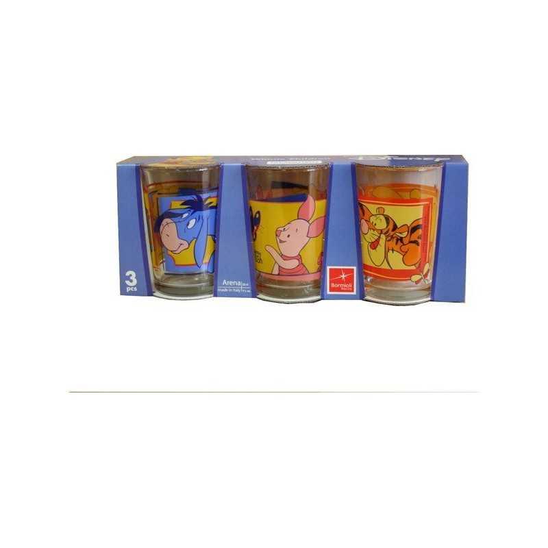 Winnie glass pack of 3