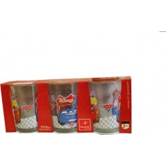 Glass Disney Cars pack of 3