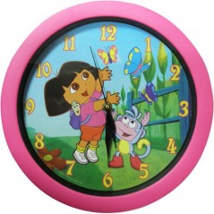 Dora color wall clock