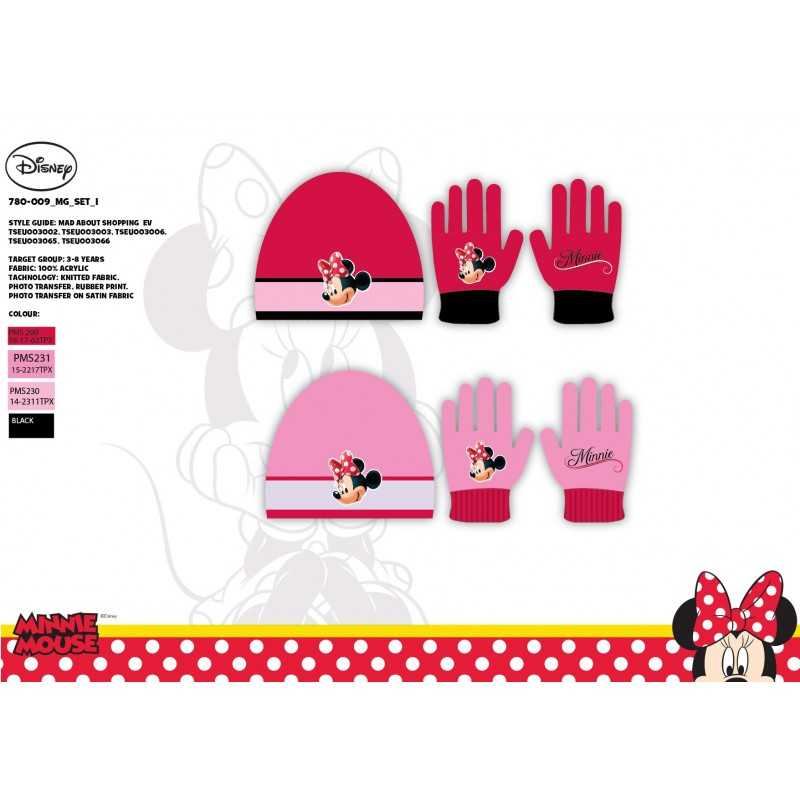 Set Bonnet et Gants Minnie Disney