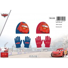 Set de guantes y gorro disney Cars