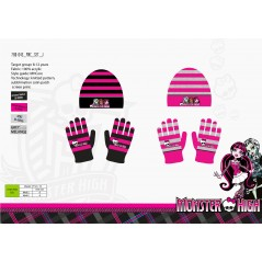 Set Beanie and Gloves set Monster High -780-045