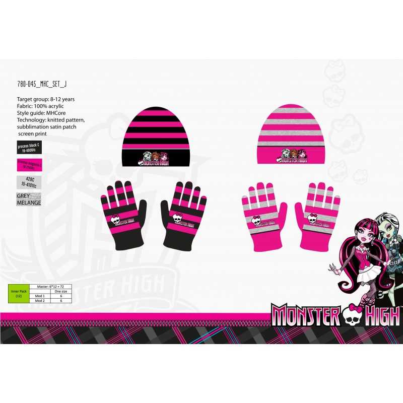 Set Bonnet et Gants Monster High -780-045