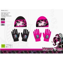 Zestaw czapek i rękawiczek Monster High
