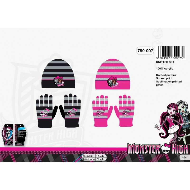 Set Bonnet gants Monster High - 780-007