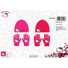 Set Beanie and Gloves Heloo Kitty - 780-026