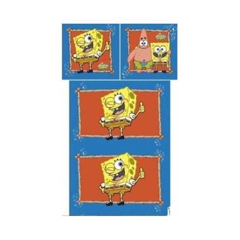 Set aus Bettbezug Sponge Bob 140x200cm und Sponge Bob Bezug