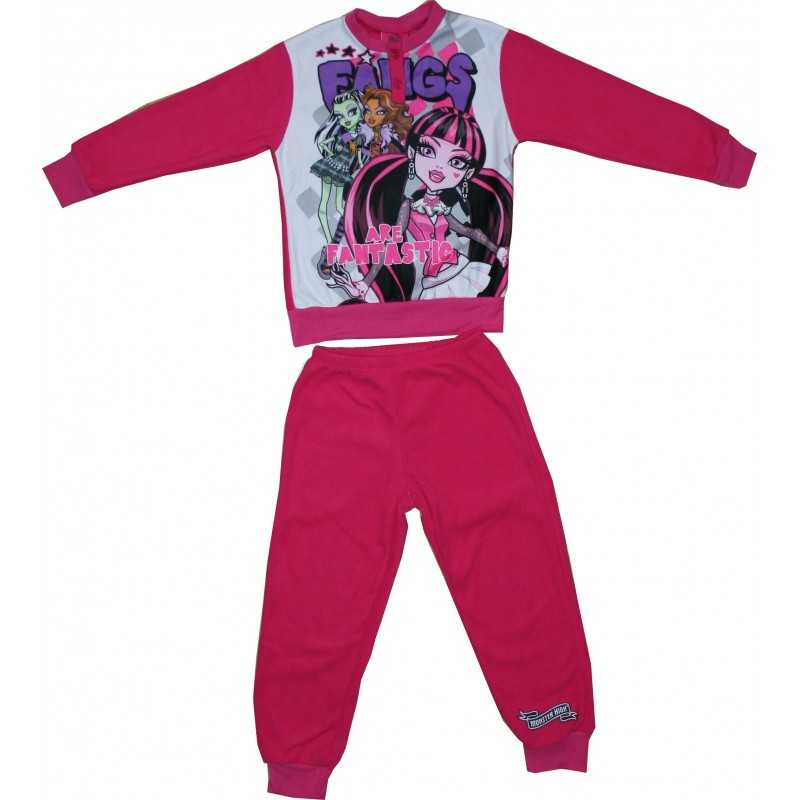 Monster High Pyjama aus langem Fleece - 830-529