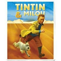 Plaid polaire Tintin et Milou - 120x 150cm