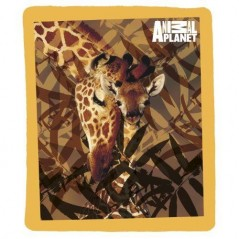Plaid Polar Animal planet Giraffe - 130 x 160 cm