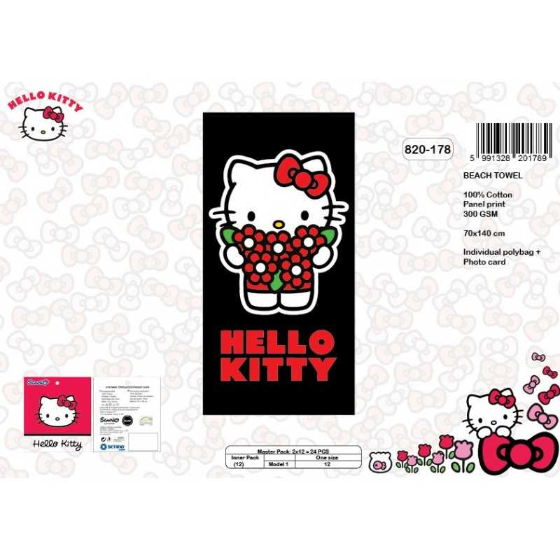 Drap de plage coton Hello Kitty - 820-178