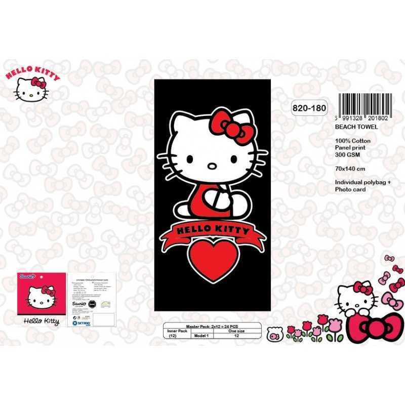Drap de plage coton Hello Kitty 820-180