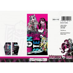 Drap de plage Monster High grand model - 820-116
