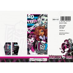 Cotton beach towel gm Monster High - 820-121