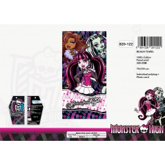 Drap de plage Monster High grand model - 820-122