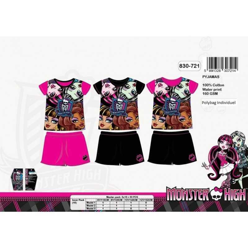 Kurzer Schlafanzug Monster High 830-721