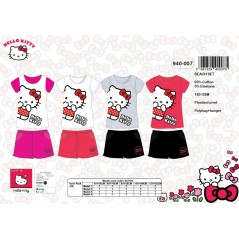 L'ensemble tee-shirt + short de plage hello kitty -940-007