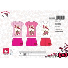 L'ensemble tee-shirt + short de plage hello kitty -940-009