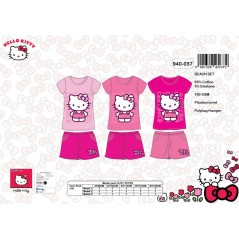 L'ensemble tee-shirt + short de plage Hello Kitty -940-037
