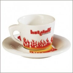 Tasse plus soucoupe hot stuff