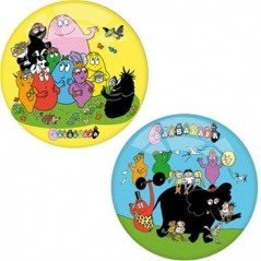 BALL BARBAPAPA 2 MODELS YELLOW BLUE 14 CM P