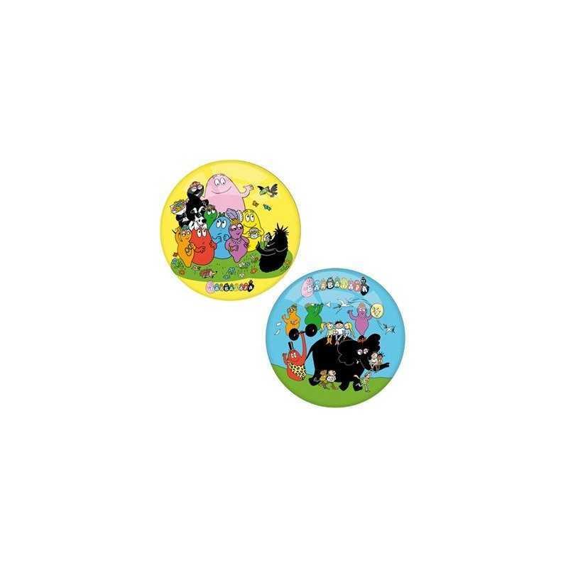 BALL BARBAPAPA 2 MODELLE GELB BLAU 14 CM P