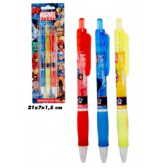 Blister of 3 Spiderman pens