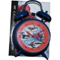 "metal alarm clock ""Spiderman"