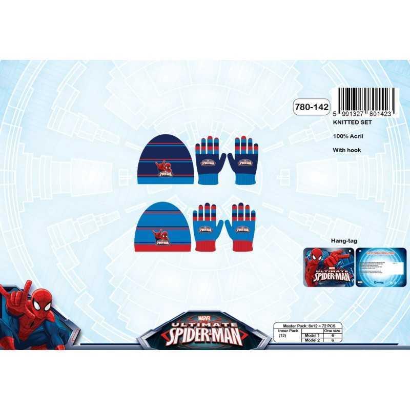 Spiderman Beanie and Gloves Set -780-142