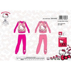 Pigiama lungo in pile Hello Kitty