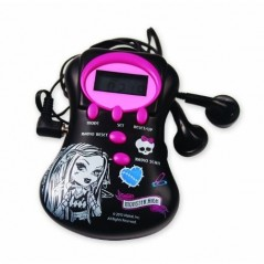 Radio with Monster High headphones