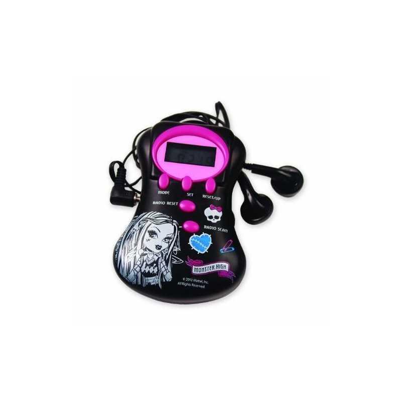Radio with Monster High headphones