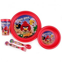 ANGRY BIRDS Dishes child 5 pieces ANGRY BIRDS polypropylene