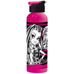 Bouteille aluminium à paille 750 ml Monster High