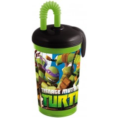 Tumbler and straw 430ml Ninja Turtles