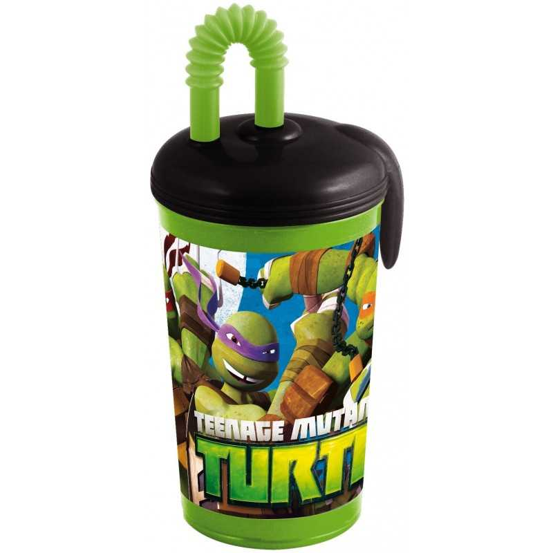 Gobelet-paille 430ml Tortues Ninja