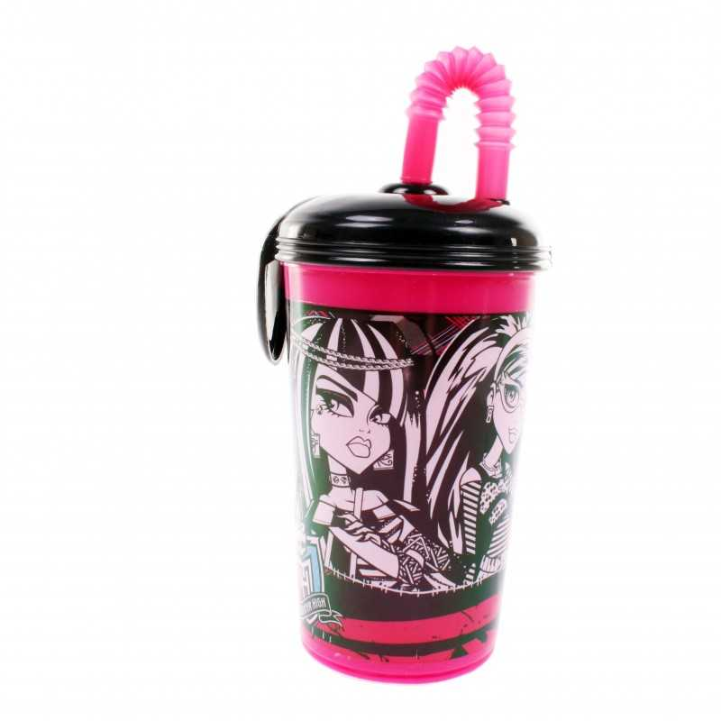 Straw cup 430ml Monster High