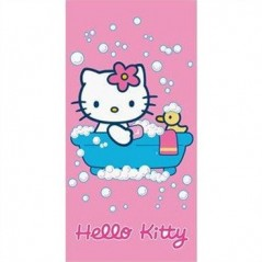 Serviette de plage ou drap de bain Hello Kitty