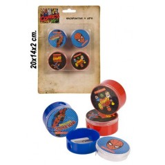 Blister de 4 taille crayon Spiderman