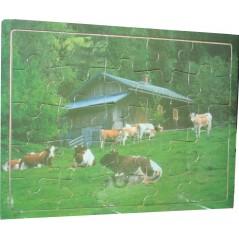 Holzpuzzle - Kühe