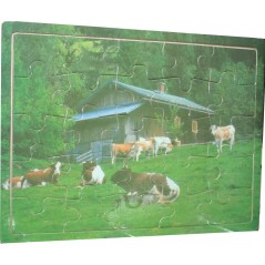 Wooden puzzle - cows