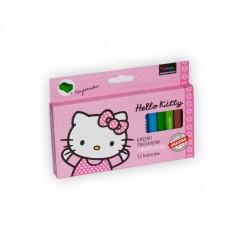 Box of 12 color pencils Hello Kitty + pencil sharpener