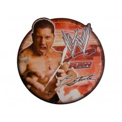 Wooden wall clock WWE BATISTA