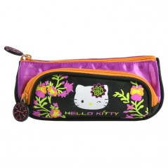 Bolso Hello Kitty negro con 2 compartimentos.
